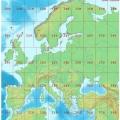 UTM-Zonen für Europa