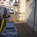 Laserscanner mit Equipment im Einsatz