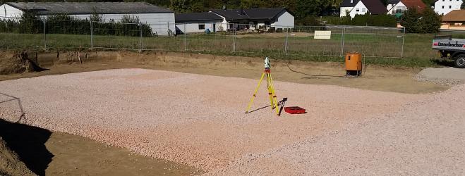 Tachymeter zur Gebäudeabsteckung