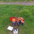 Teamaufnahme aus der Luft